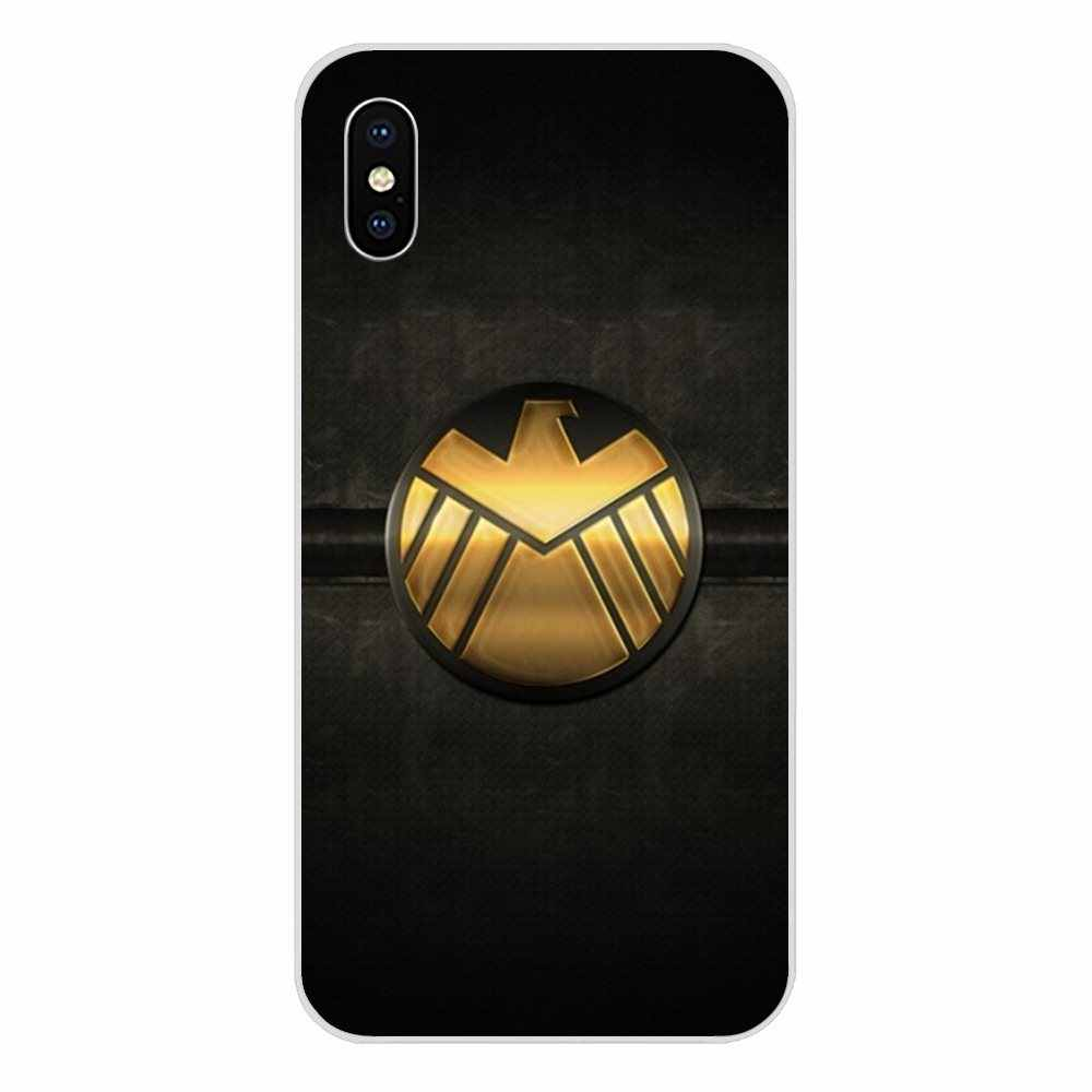 For Xiaomi Redmi Note 2 3 3S 4 4A 4X 5 5A 6 6A Pro Plus TPU Cover Cases Cartoon Comic Marvel Shield Logo Poster