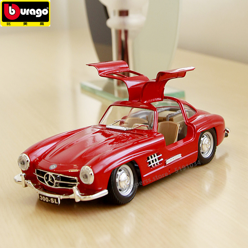 Bburago 1 24 Mercedes 300SL classic car alloy car model simulation car decoration collection gift toy in Diecasts Toy Vehicles from Toys Hobbies