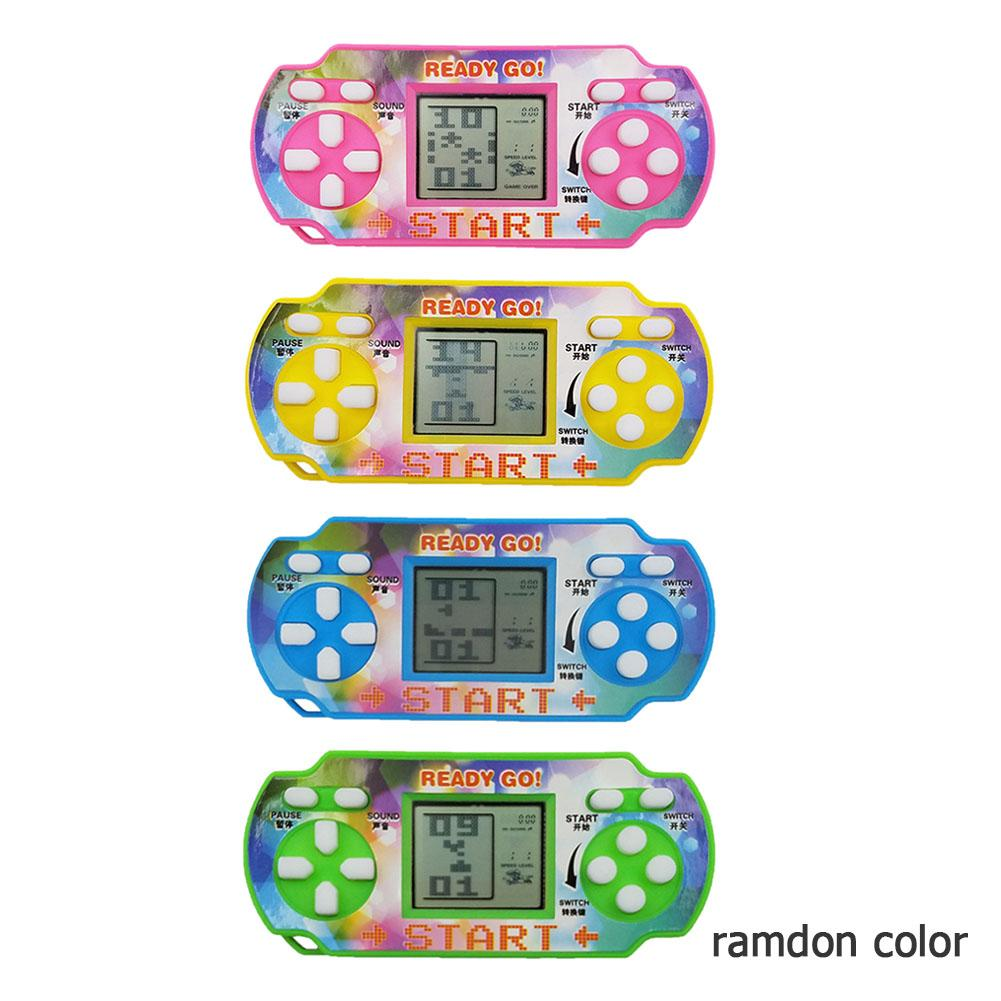 Portable Mini Tetris Game Console LCD Handheld Game Players Children Educational Anti-stress Electronic Toys Random Delivery