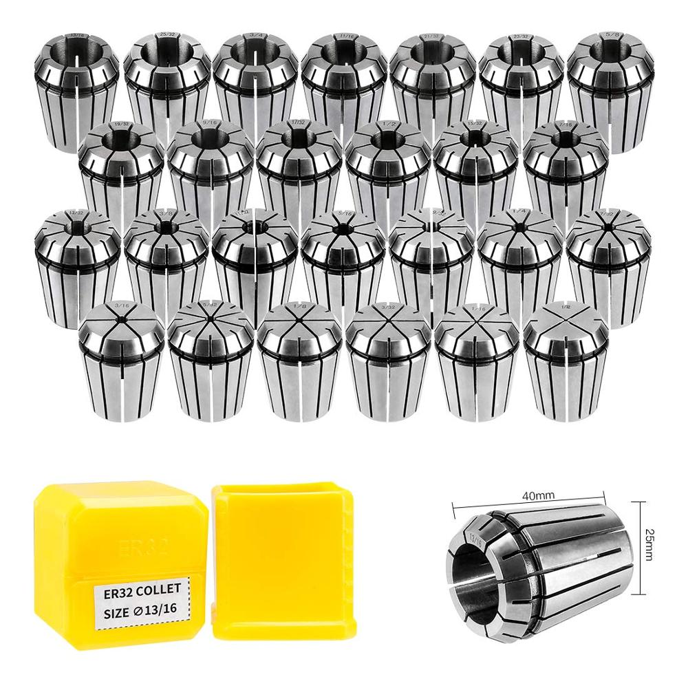 ER11 ER16 ER20 ER25 ER32 ER40 Spring Collet Chuck Accuracy 0.008mm For CNC Milling Tool Holder Engraving Machine Spindle Motor