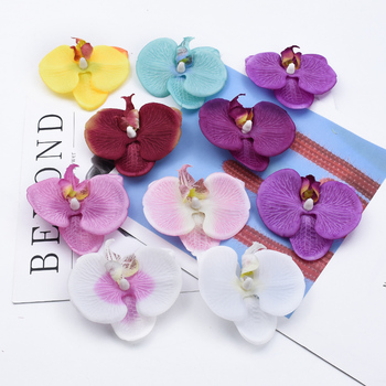 2/5/10 Pieces Butterfly orchid flowers for scrapbook diy gifts candy box christmas decorations for home artificial flowers cheap image