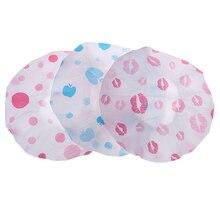 1 Pcs Random Hair Protective Cap Waterproof Shower Cap Thicken Saunas Bath Hat Kids Hair Bathing Cap For Women Kids