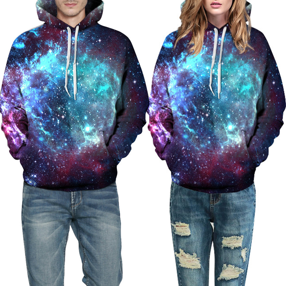 Men 3D Print Hoodies Winter 2019 Fashion Stars Space Nebula Plus Size Mens Sweatshirts Cuasl Oversized Colourful Male Sweatshirt