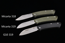 JUFULE 318 / 319 micarta / G10 handle Mark s30v blade camp hunt Outdoor pocket fruit EDC tool Utility Gentleman folding knife