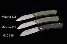 Jufule 318 / 319 micartaを見なさい/G10ハンドルマークs30v刃キャンプハント屋外ポケットフルーツedcツールユーティリティ紳士折りたたみナイフ