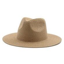 Chapeaux de soleil à large bord pour hommes et femmes, solide, en paille, solide, plein air, plage, voyage, protection solaire, fait à la main, décontracté, printemps, été