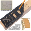 45 & 90 Degree WoodWorking Ruler Square Scribe 3D Mitre Angle Measuring Measure Tool with Gauge and Ruler Convenient