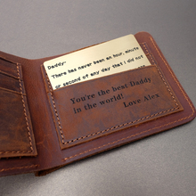 Personalized Handmade Wallet Short Bifold Leather Men Purses Gift