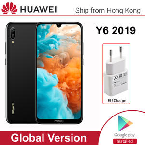 HUAWEI Y6 2019 Mobile Phone Global Version smartphone 32GB Rom 6.09 inch 3020mAh battery Face unlock ID 13MP Camera