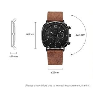 Image 2 - Mannen Business Sport Horloges Zwitsers Quartz Kalender Waterdicht Horloge Mens Fashion Lederen Band Roestvrij Klok Nieuwe Wacht