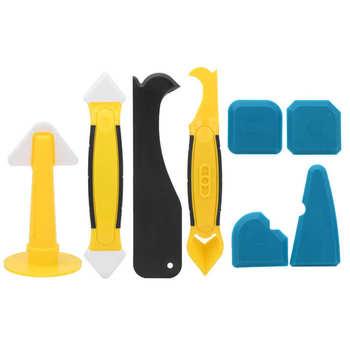 Rękawice ogrodowe rękawice robocze zestaw Caulking Finisher narzędzie przenośny uszczelniacz silikonowy łopatka skrobak łopata wielofunkcyjny tanie i dobre opinie Aramox CN (pochodzenie)