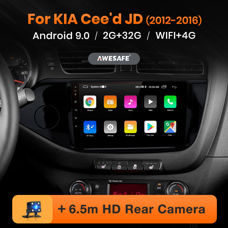 AWESAFE PX9 for KIA Cee d CEED JD 2012-2016 Radio Multimedia video player GPS No 2din 2 din Android 9 0 2GB 32GB