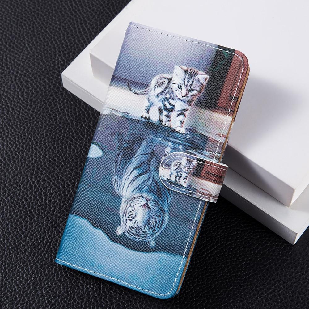 Iqoo Neo 3 5G Cute Cat Wallet Case Flip Book Style Cover On Vivo Iqoo Neo3 Neo 3 Embossing Cartoon Patterned Flower Case