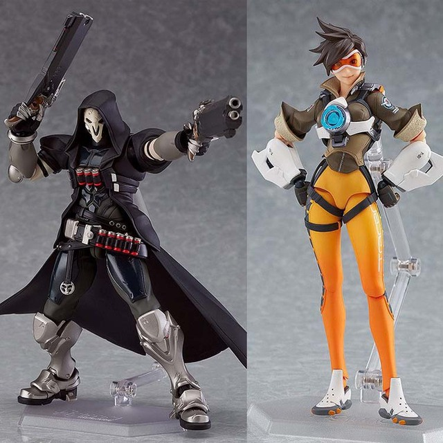 In Stock 15cm Overwatcher 393 # Grim Reaper 352 Tracer PVC Action Figure Movable collection toy gifts Doll