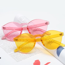 New Style Europe And America Frameless Sun Glasses Simple Fa