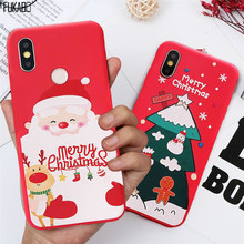 Christmas Shockproof Case For Xiaomi Redmi Note 8 7 Pro Case For Xiaomi 9T 9 SE 8 A3 A2 A1 Lite CC9E Redmi K20 5 6 7A Back Cover(China)