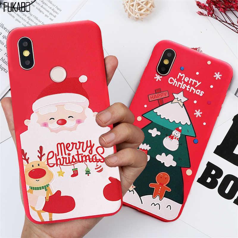 Natal Caso À Prova de Choque Para Xiaomi Redmi Nota 8 7 Pro Caso Para Xiaomi 9T 9 SE 8 A3 A2 a1 Lite CC9E Redmi K20 5 6 7A Tampa Traseira