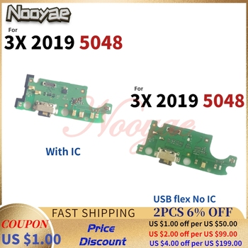 For Alcatel 3X 2019 5048 5048U 5048Y USB Dock Charging Port Charger Plug Board Flex Cable With Microphone MIC +Tracking image