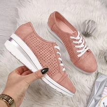 wolf who summer women air mesh water breathable beach shoes platform casual ladies krasovki slipony slip on loafers female x104 Women Casual Flats Shoes Female Hollow Breathable Comfortable Mesh Summer Shoe For Ladies Slip On Flats Loafers Lace Up Beach