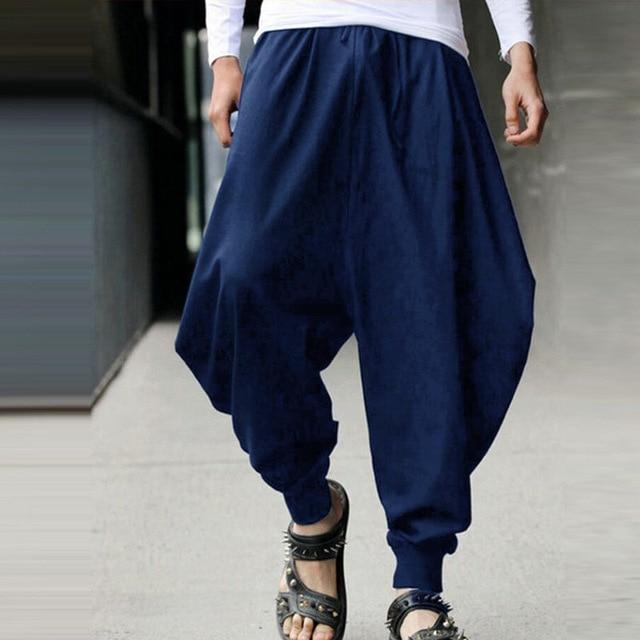 S-5XLPlus size Mens Vintage Hippy Boho Aladdin Harem Wide leg Ninja Trousers Casual Nepal Mens Jogger Full Length Pants bloomers 6