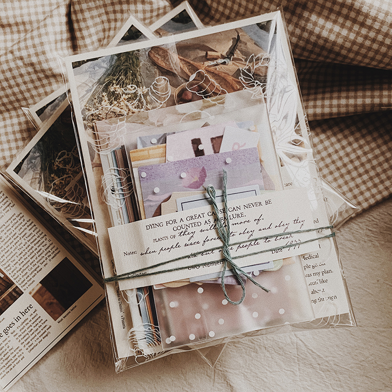170 Pcs Retro Memo Vintage Material Bills Note Decoration Stationery Stickers Diary Planner Scrapbooking DIY Tags Journal Paper