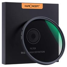 K&F Concept 37/40.5/43/46/49/52/55/58/62/67/72MM Circular Polarizer Filter HD 18 Layer Super Slim Multi Coated CPL Lens
