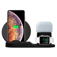 N30 Draadloze Oplader 10W Fast Charging Stand Voor Iphone 11 X Xs Xr Xs Max 8 Plus Voor Apple horloge 5 4 3 2 Airpods En Airpods Pro(China)