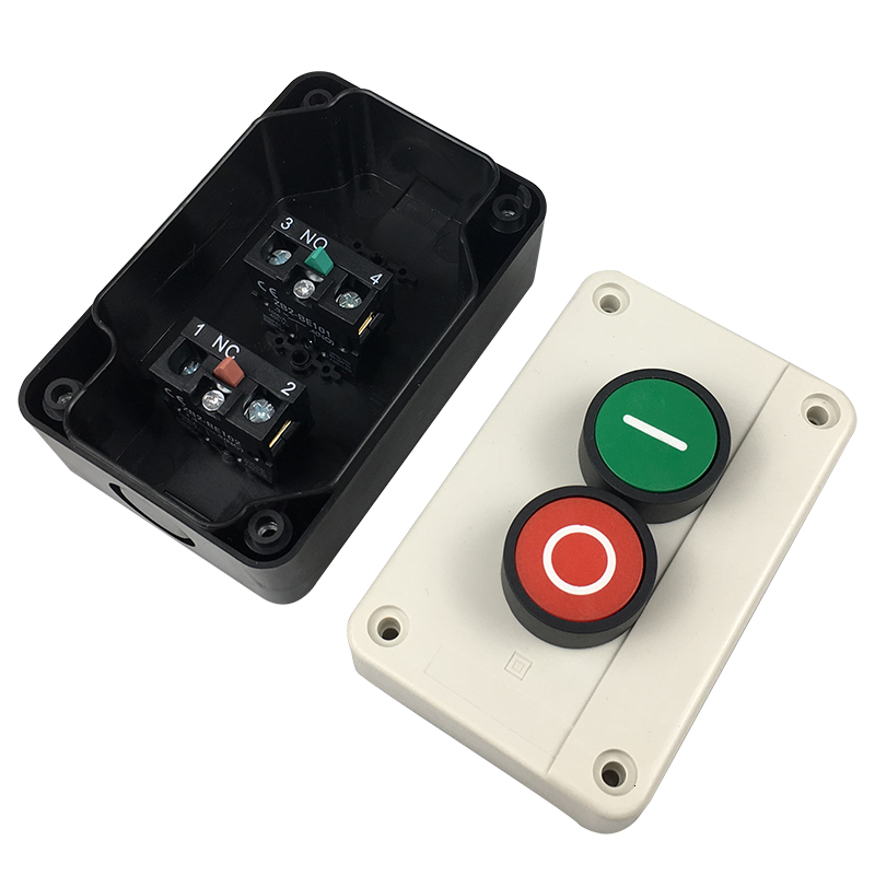 Push Button Station Switch Remote Start Stop Motors Solenoid IP55 Button Box
