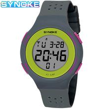 Synoke wielofunkcyjny męski zegarek ultra-cienki LED pływanie wodoodporny zegarek moda Sport zegarek uczeń para elektroniczny zegarek tanie tanio SYNOKE synoke 67866