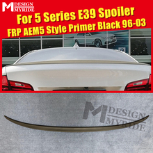 For BMW E39 Spoiler Tail Wing FRP Unpainted Primer Black Spoiler AEM5 Style 5-Series 525i 530i 540i 545i Trunk Spoiler 1996-2003