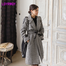 Coat Cloth Plover Winter High-Grade Double-Breasted Show Case Thin Han-Edition Loose