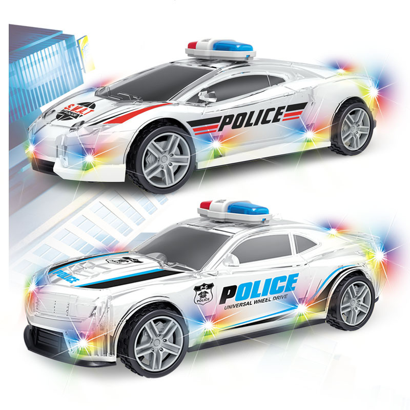 New Products CHILDREN'S Electric Toys Police Car Universal Wheel Police Car Boy Shining Sounding Toys Wholesale