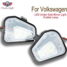 цена на 2Pcs LED Under Side Mirror Puddle Light for VW Passat B7 CC EOS Scirocco Jetta