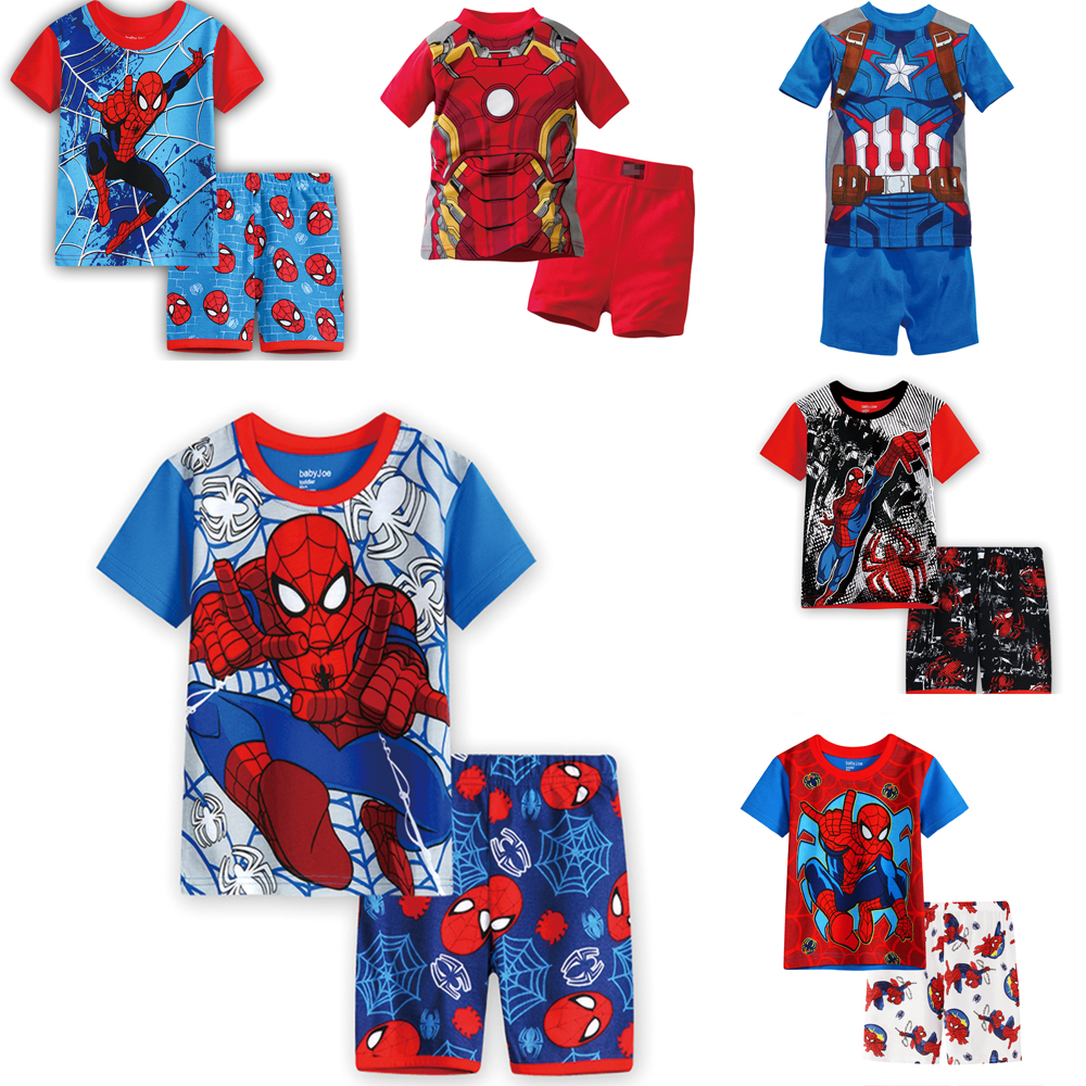 HEYFRIEND Kids Pajamas Boys Girls Pyjamas New Summer Cotton Kids Clothes Set Short Sleeve Clothes Sets Children's Sleepwear