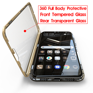 Image 3 - 360 Full Body Protective Case For Huawei P20 Pro P20Pro P 20 Magnetic Bumper Front Tempered Glass Film Cover Huawei P20 Pro Case
