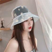 Fisherman Hat Bucket-Hats Flower-Print Breathable Visor-Caps Sunbonnet Protect Summer