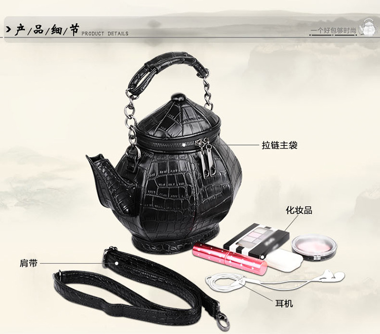 2020 New style neutral zipper strong cool personality satchel features women's one shoulder handbag teapot popular elements bag