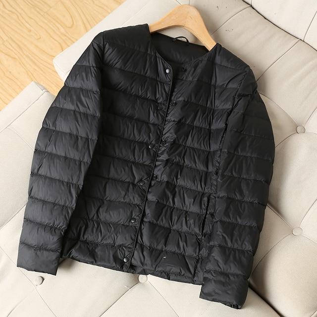 Fitaylor New Winter Women Ultra Light White Duck Down Jacket Short Coats Plus Size S-3xl Warm Female Down Jacket Outerwear 3