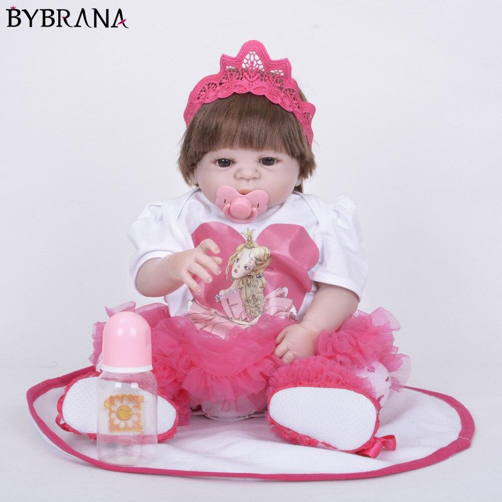 Oyuncaklar ve Hobi Ürünleri'ten Bebekler'de Tam Silikon Vinil Yeniden Doğmuş Bebek bebek Gerçekçi Kız Bebekler Bebekler 23 Inç 58 cm Gerçekçi Prenses Çocuk Oyuncak Çocuk doğum günü hediyesi'da  Grup 1