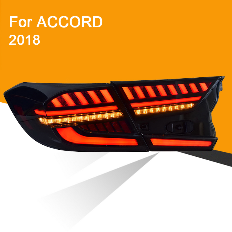 1 Pair LED Tail Light Assembly For Honda Accord 2018  LED Tail Light With Reverse Light Sequential Turning Signal Light