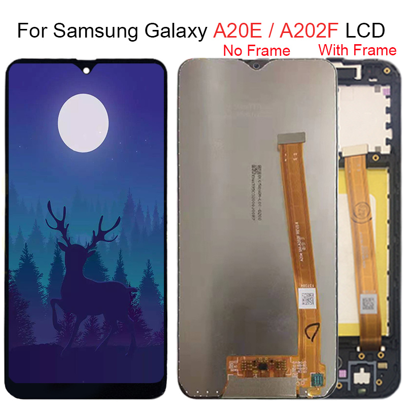 For Samsung Galaxy A20e A202 A202F A202DS LCD Display Touch Screen Digitizer Assembly A202 A202F/DS For SAMSUNG A20e LCD Screen