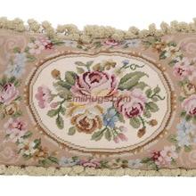 needlepoint cushion Hand woven pillow Rococo cloth art Baroque soft Collection