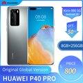 Huawei P40 Pro 6,58 дюймов OLED экран 5G мобильный телефон 8 ГБ + 256 Гб Смартфон 50MP + 32MP 4200 мАч Kirin 990 Android 10 Global