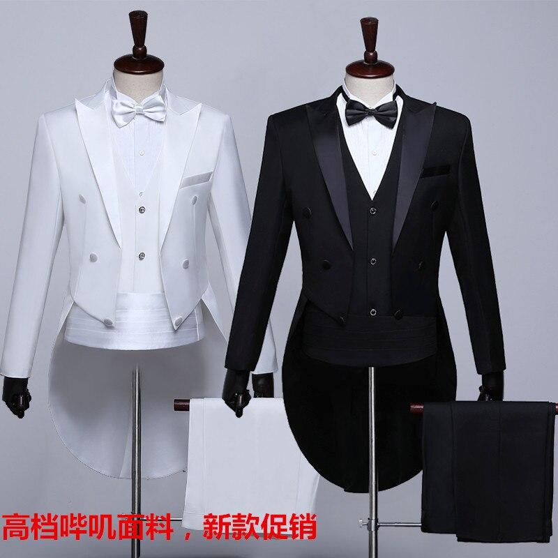 Serge Fabric Tuxedo MEN'S Suit Slim Models Formal Dress Annual General Meeting Master Of Ceremonies Host Magic Jazz Dance Choral
