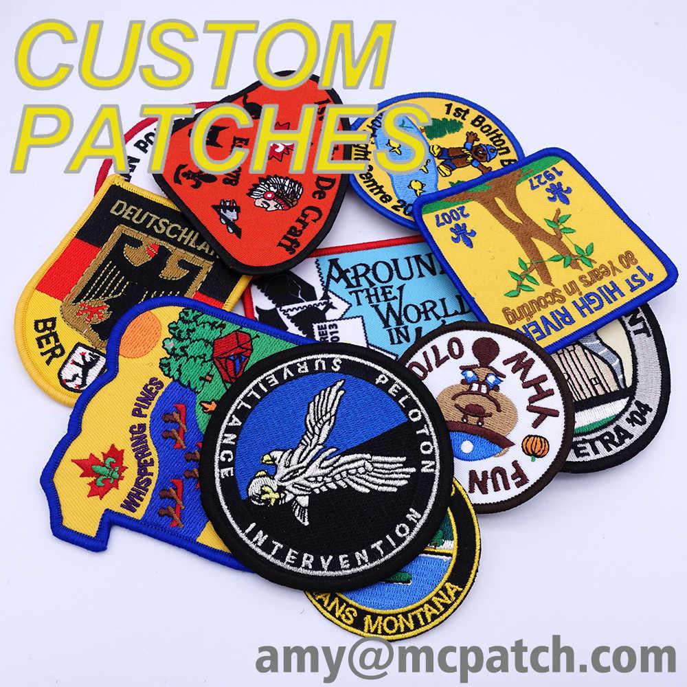 Custom Uw Gepersonaliseerde Borduurwerk Patch Naam Logo Ijzer Op Biker Leger Haak Badges Pvc Rubber Geweven Patches Voor Kleding Sticker