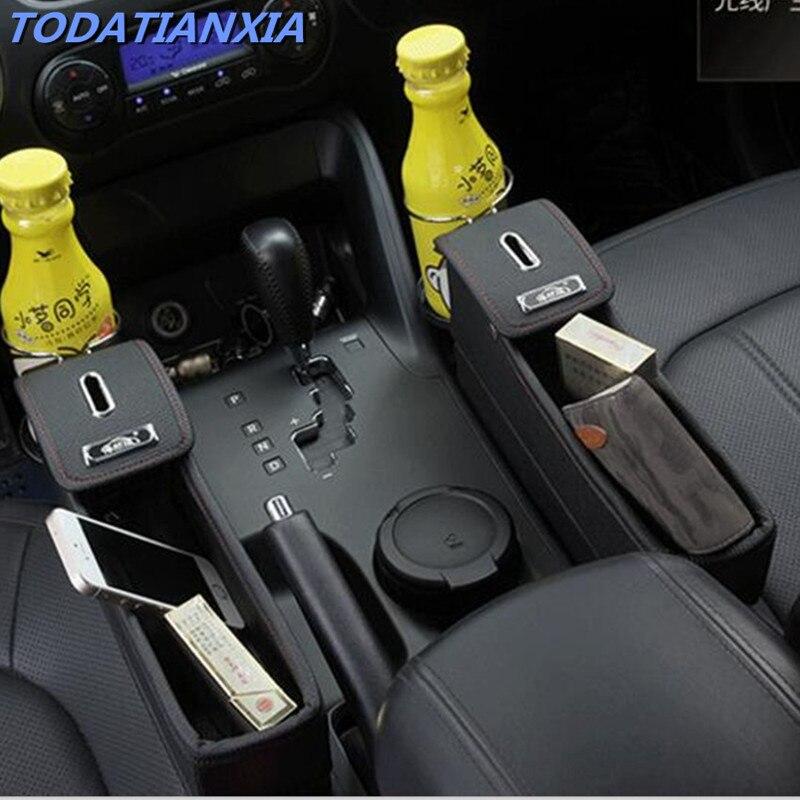 Hot Car Accessories Auto Seat Gap Storage Box FOR Peugeot 208 W205 Passat B6 Peugeot 2008 Nissan Qashqai J11 E46 Saab Fiat