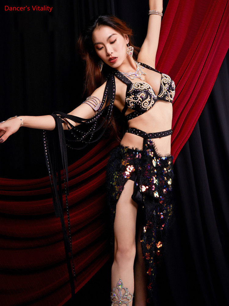 Costume-Performance Dancing-Skirts Practice-Clothing Belly-Dance Oriental Indian Stage-Wear