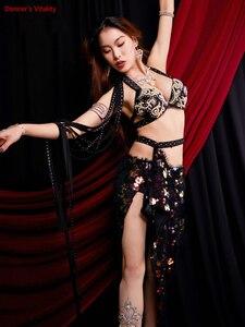 Image 1 - Frauen Bauchtanz Kostüm Leistung Kostüme Orientalischen Indischen Tanz Röcke Praxis Kleidung Handgemachten Custom Bühne Tragen