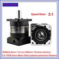 Соотношение 3:1 NEMA32 80 мм планетарный редуктор 7 аркмин люфт редуктор 6000 об/мин для 750 Вт Серводвигатель шпинделя высокая точность