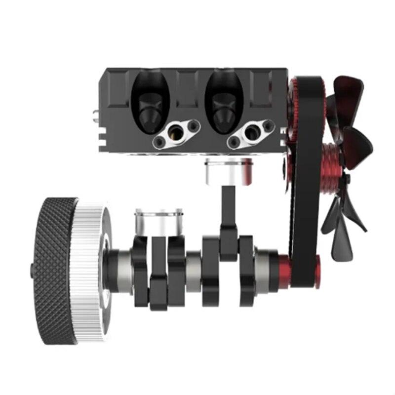 FS-L200 moteur bicylindre modèle moteur RC modèle moteur rouge modèle multi-modulaire Design high-tech cadeau d'anniversaire - 4